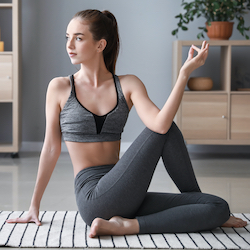 yoga props ideas to practice yoga online at home